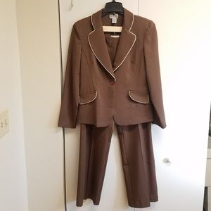 K.C. Spencer brown pant suit